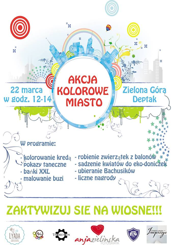 poster - AKCJA KOLOROWE MIASTO