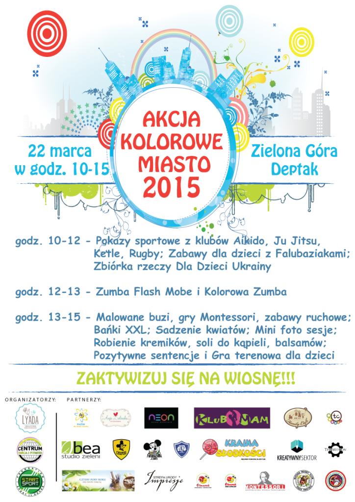 Kolorowe Miasto 2015 plakat