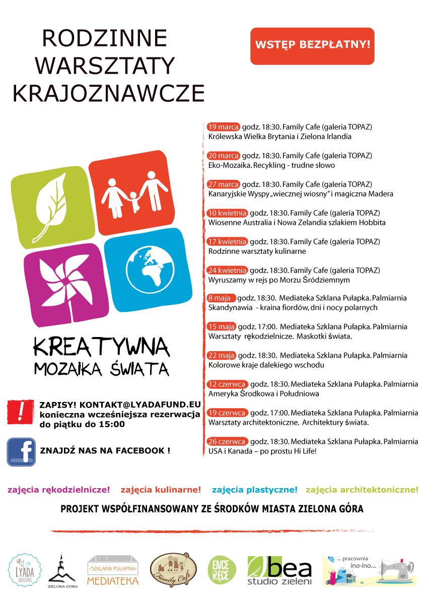 Kreatywna Mozaika Świata 2015 - harmonogram